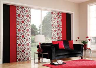 Panel blinds available at Rian's Window Treatments Mandurah